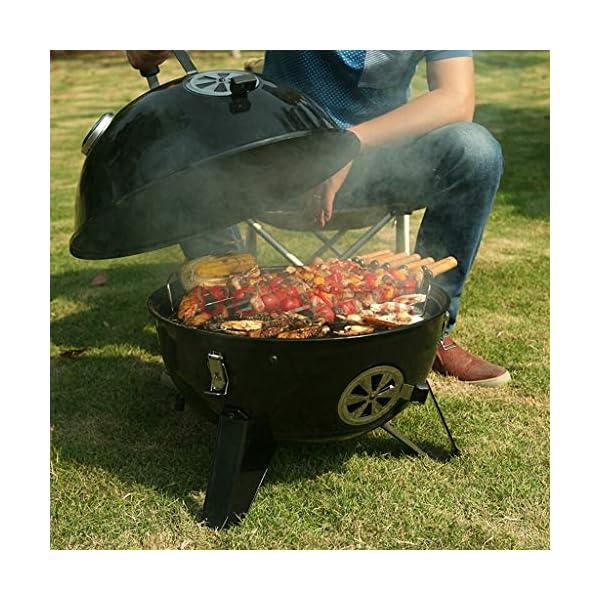 MH BBQ Grill - Barbecue a carbonella di Spazio Grill Portatile a Carbone Grill Grande Strumento Barbecue @ 3 spesavip