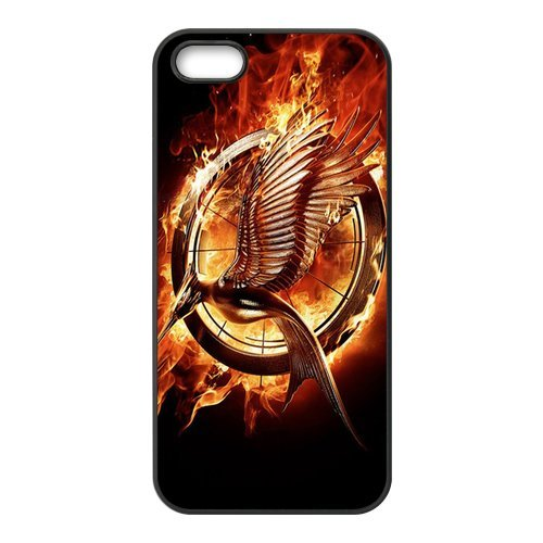 iPhone 5/5S custodia, cover per iPhone 5S, the Hunger Games design Durable Rubber Silicone Materiale Case Cover for iPhone 5 5S