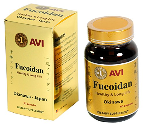 AVI Fucoidan Extract 85% - 400mg Per Capsule - 60 Capsules Per Bottle - The Best Product by AVI