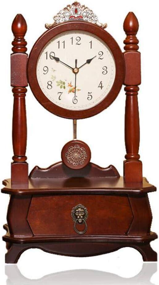GongDi Reloj de Mesa Bloqueo de Escritorio Mudo Relojes sólidos ...