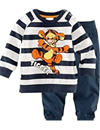MITIAO Little Boys Cartoon Tigger Stripe Long Sleeve Pajama Set