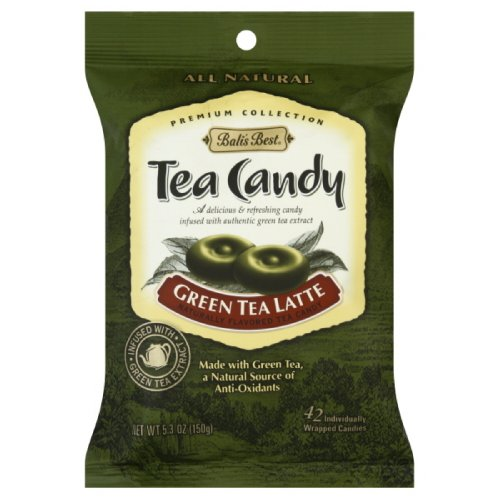 Bali's Best Green Tea Latte Candy, 5.3-Ounce (Pack of 12)