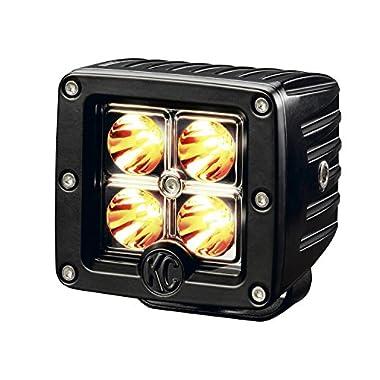 KC HiLiTES 1315 C3 Amber 3  12W LED Spot Light System