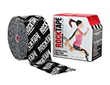 RockTape Big Daddy (4'' Wide) Uncut BULK Kinesiology Tape - 4'' X 105' Roll - Black Logo