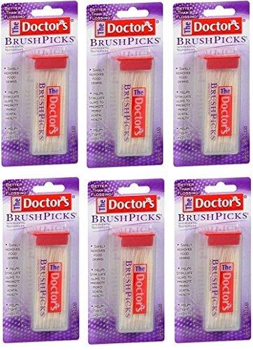 The Doctor's BrushPicks Interdental Toothpicks | 120-Picks per pack | (6-Pack)]()