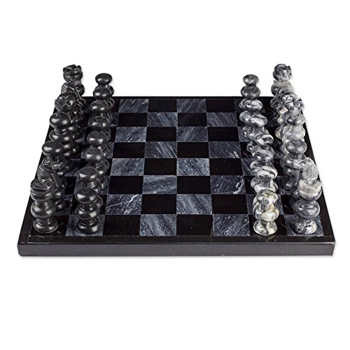 (NOVICA Decorative Hand Carved Sophisticate' Marble Chess Set)