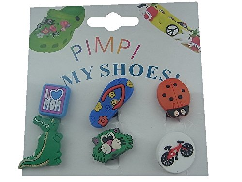 PIN STICKER 6x MY PIMP SHOES FÜR I CLOGS CLIPS CROCS qdawWxarEf