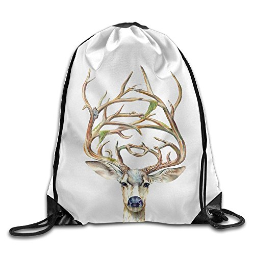 Oh My Deer Beam Drawstring Travelling Bundle Storage Gym Bag Ball Backpack