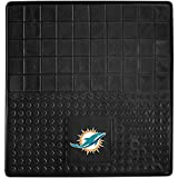 DH 31 X 31 Inches NFL Dolphins Cargo Mat, Football Themed Car Flatbed Trunk Vinyl Square Trunk Carpet Sports Patterned, Team Logo Fan Merchandise Athletic Team Spirit, Aqua Orange White Black
