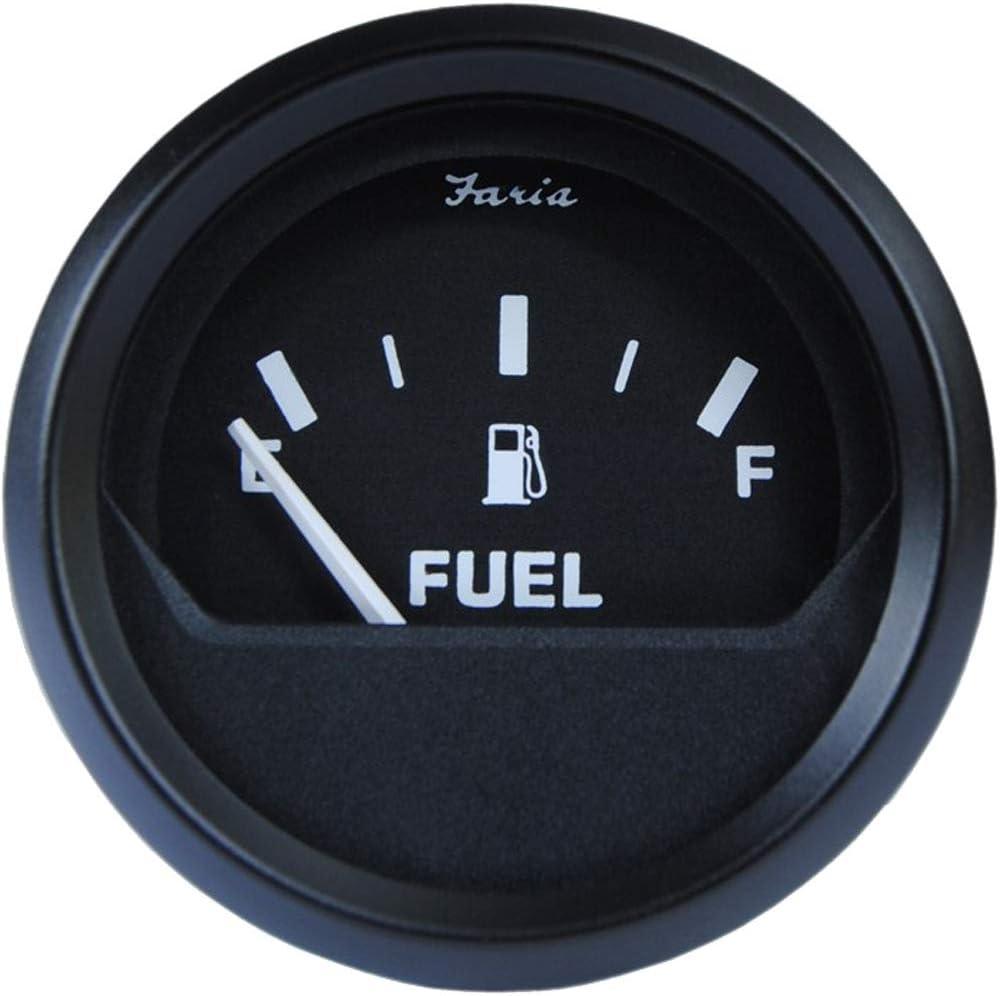 Faria 12801 Euro Fuel Level Gauge (3003.3421), Black