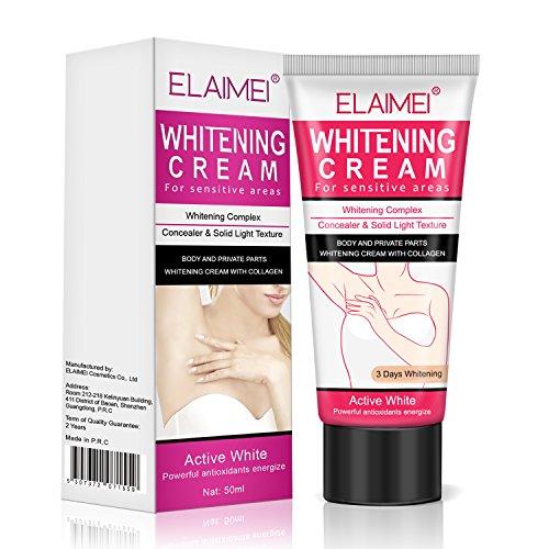 Natural Underarm Whitening Cream,Effective for Lightening & Brightening Armpit, Neck, Bikini, Thigh and Sensitive & Private Area Skin,Whitens Nourishes Repairs & Restores Skin