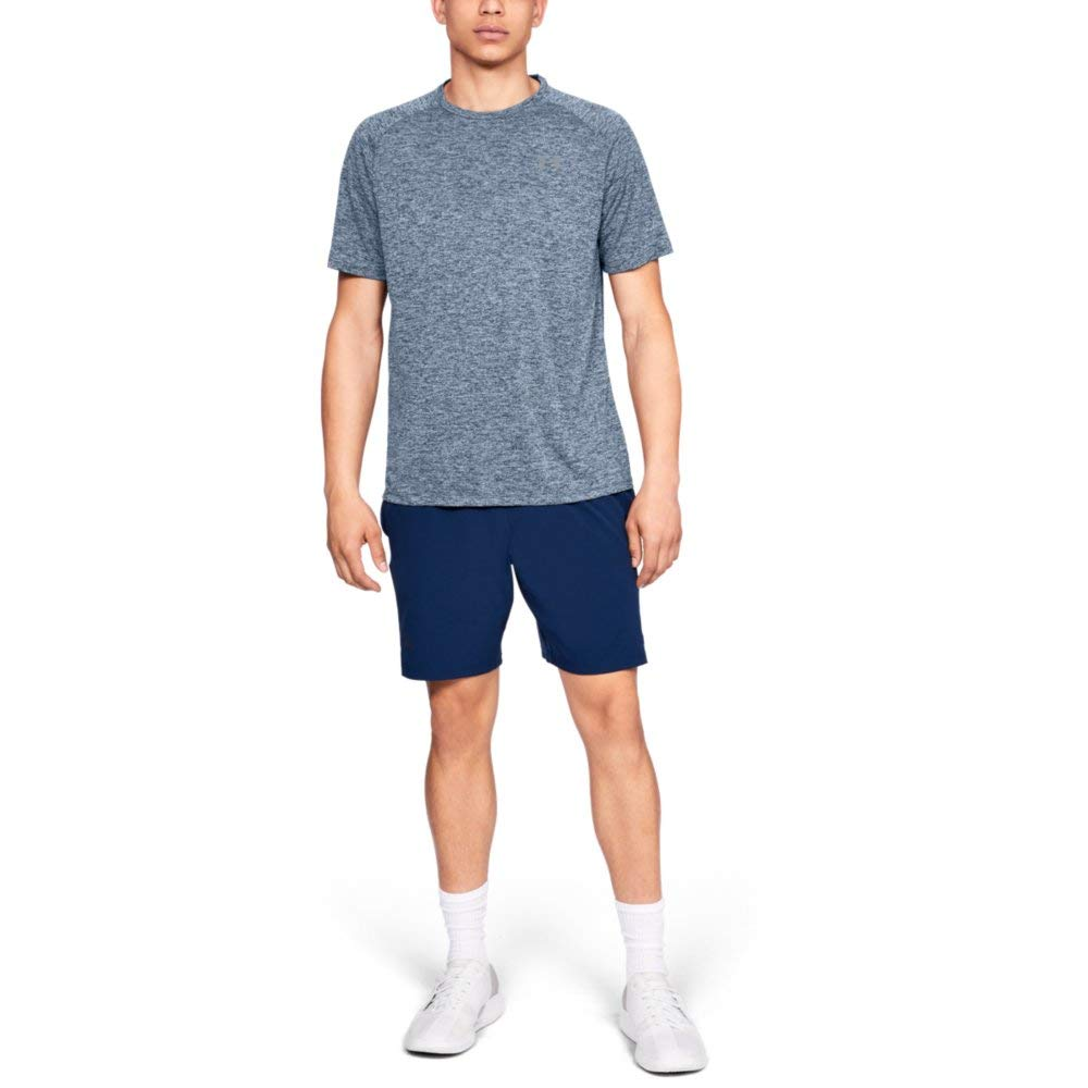 Under Armour Men's Tech 2.0 Short Sleeve T-Shirt, Academy (409)/Steel, 3X-Large by Under Armour (Image #3)