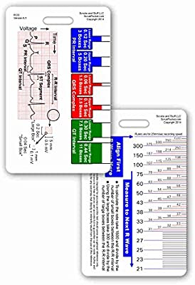 photo regarding Printable Ekg Strips known as EKG Ruler Vertical Badge Identity Card Pocket Reference Direct ECG