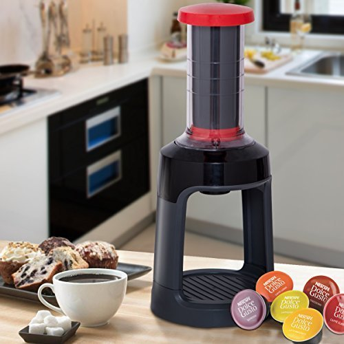 Costway K-Cup Manual Coffee Brewer Portable Single Serve Hand Press Coffee Maker Capsule Machine for Commuter Camping Outdoor and Office -