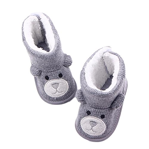 lker Boots,FuzzyGreen Cute Knitted Thick Winter Warm Bear Style Boots Footwear for Infants Shoes-11cm (Bear Footwear)