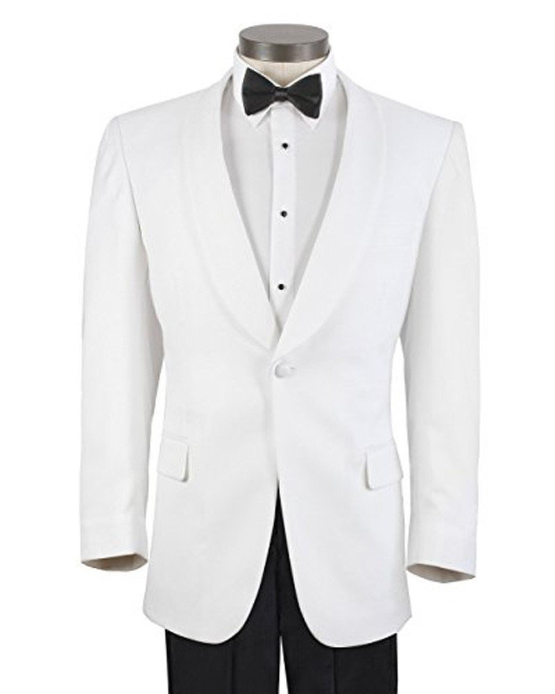 Men's White Formal Dinner Jacket - 46 Regular NAPWDJ46R