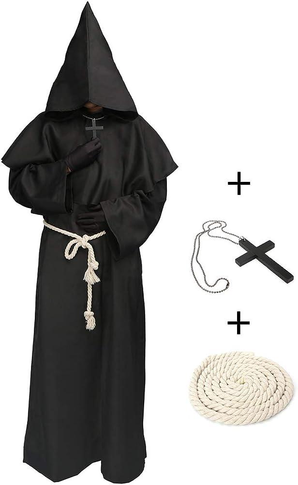 LATH.PIN Lechhpin - Disfraz de Monje con Capucha para Halloween ...