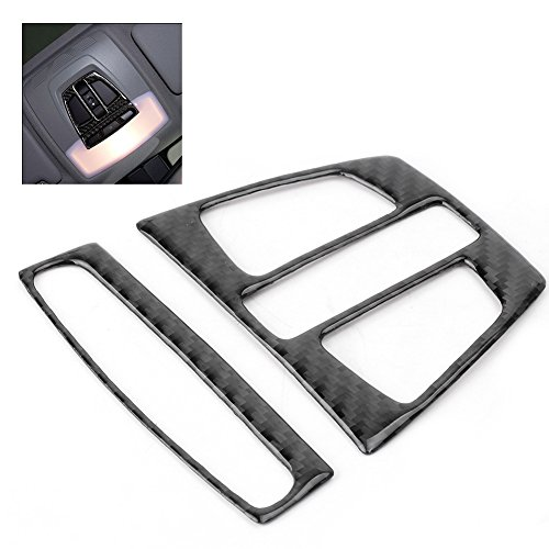 GZYF Carbon Fiber Reading Light Cover Trim Decoration for BMW X1 X 5 X6 F20 F30 F32 F34