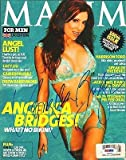 Angelica Bridges Signed 2003 UK Edition Maxim Magazine PSA/DNA COA Aut