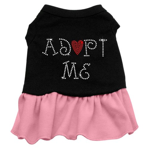 Mirage Pet Products Adopt Me 14-Inch Pet Dresses, Large, Black with Pink