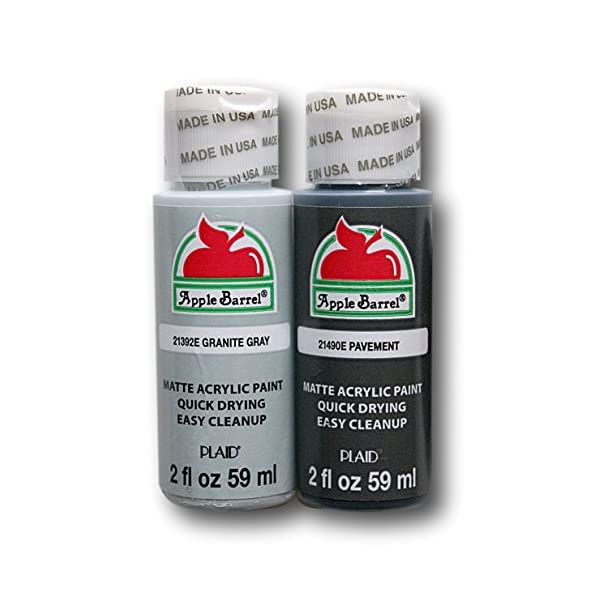 Apple-Barrel-Acrylic-Paint-Set-Pavement-Granite-Gray-2-Ounces-Each