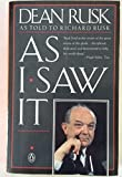 img - for As I Saw It book / textbook / text book