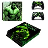 The Incredible Hulk ps4 pro edition skin decal for console and 2 controllers
