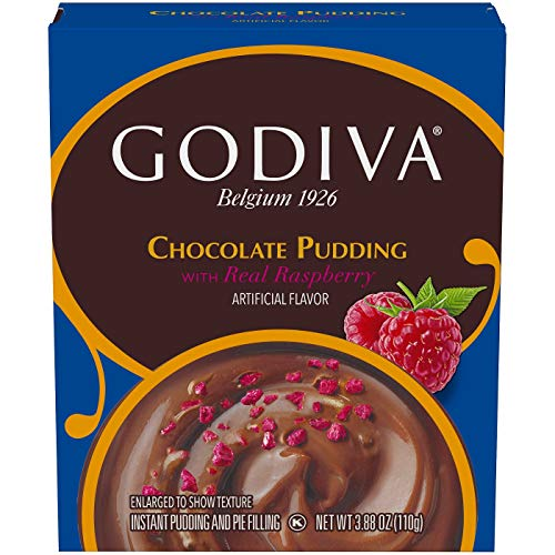 Godiva Chocolate Pudding with Raspberry - 3.88oz, pack of ()