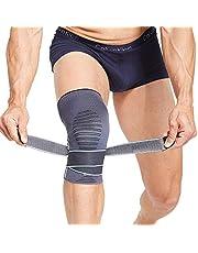 BERTER Kniebandage Knieschoner Kniestütze mit Klettverschluss den Druck verstärken Leistungsverbesserung fest ohne Rutsch Kniegelenkschutz Knieschmerzenlinderung beim Sport für Damen und Herren