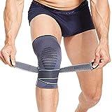 Knee Brace - BERTER Knee Compression Sleeve - Men Women Non-Slip Knee Support