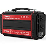 Fnova 250-Watt Portable Battery Generator Power Station, 60000mAh Pure Sine Wave Backup Power Source PowerHouse, Supply Charged by Solar/AC Outlet/Cars with 2AC & 4 DC 12V & 2 USB Ports (RED)
