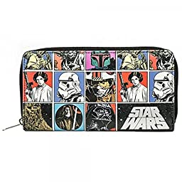 Star Wars Comics Retro Zip Around Wallet Clutch Wallet