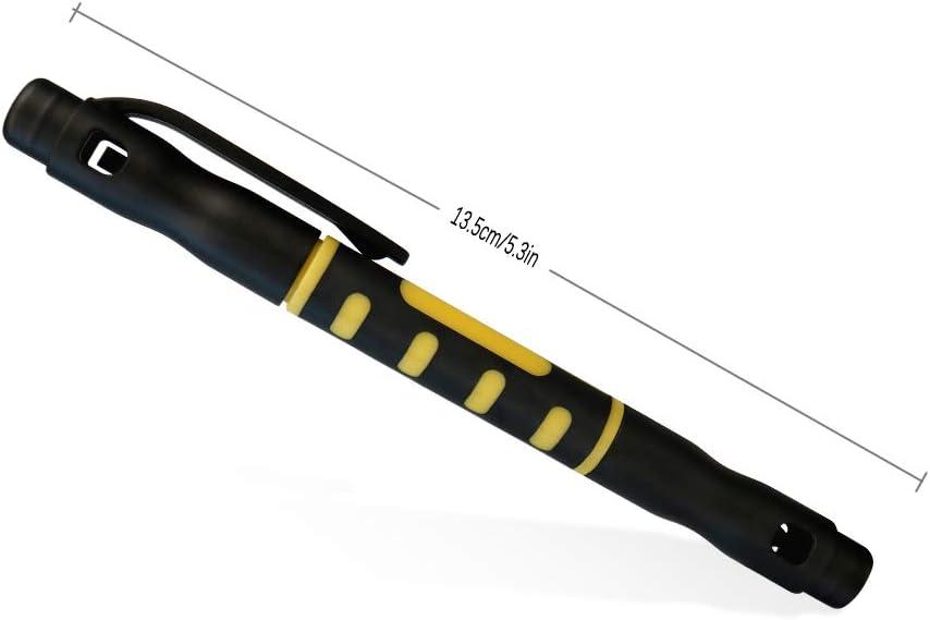 BAT 4 en 1 Destornilladores multifuncionales de aleaci/ón ranurados//Phillips estilo bol/ígrafo de precisi/ón doble herramienta de reparaci/ón intercambiable amarillo