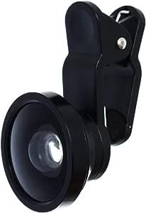 عدسة كاميرا سيلفي عدسة بزاوية واسعة قابلة للازالة مثالية لجميع الهواتف المحمولة - اسود