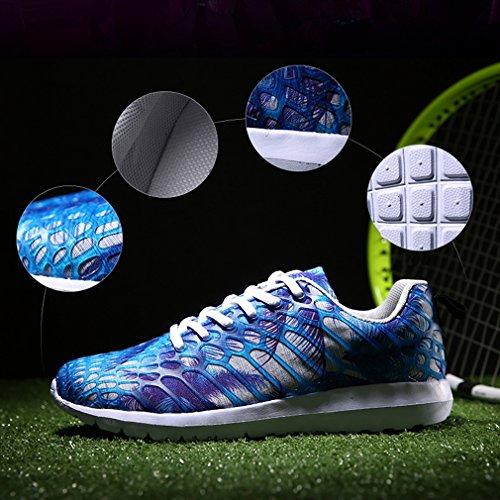 Bleu de Hommes Respirantes Baskets Femmes Sport Chaussures 6xnHdZY