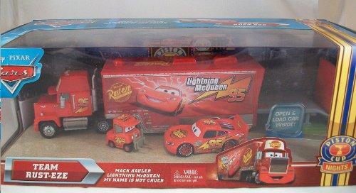 Disney / Pixar CARS Movie 1:55 Die Cast Car Series 4 Race-O-Rama Exclusive Team Rust-Eze (Mack Hauler, Lightning McQueen and My Name is Not Chuck) by Mattel