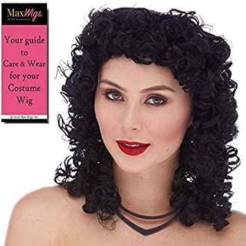 Amazon.com: Curly Rocker Color 1 Black - Sepia Wigs Collar ...