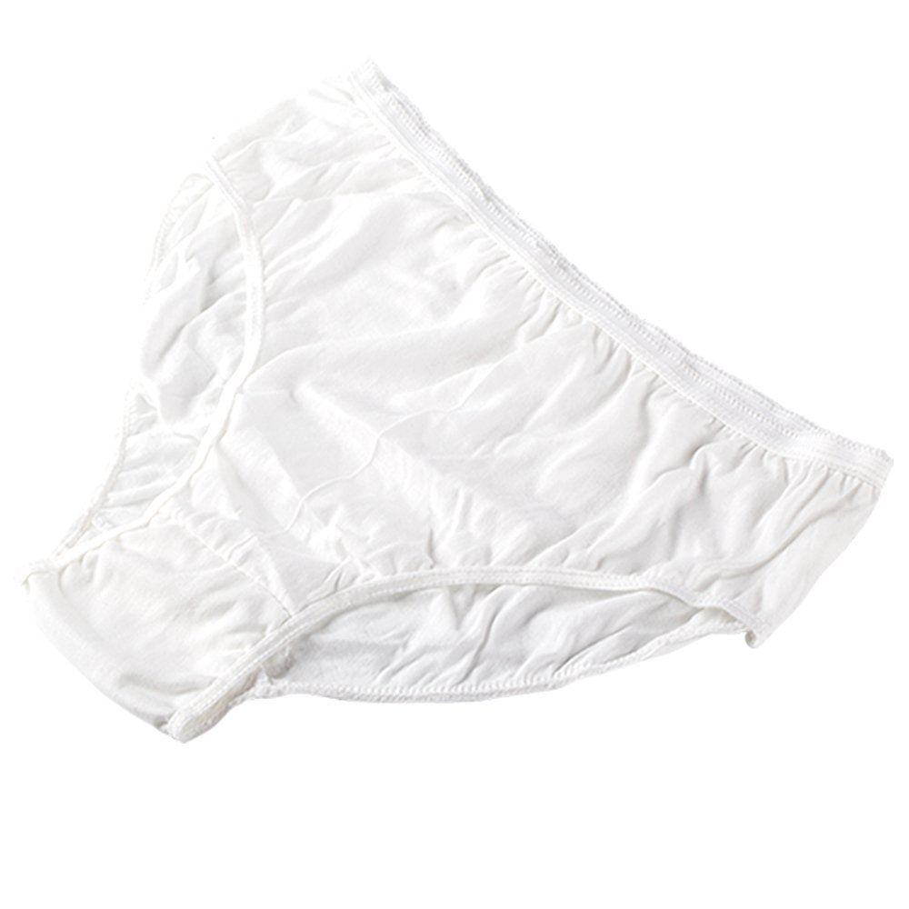 Starly Women's Disposable 100% Cotton Underwear For Travel Hotel Spa(10PCS Pack)(M)
