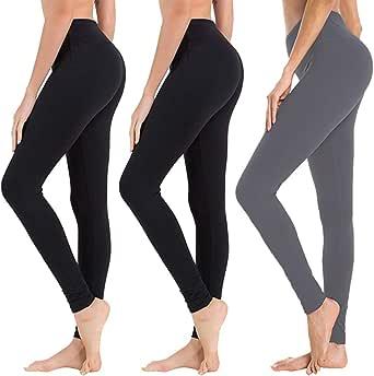 KeeFsion 3 Pack Leggings para ni/ñas Pantalones para ni/ñas Polainas para ni/ñas Polainas para ni/ños