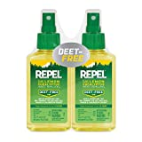 REPEL Lemon Eucalyptus Natural Insect Repellent, 4oz. Pump, 2-PK