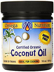 Omega Nutrition Coconut Oil, 454-Grams