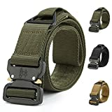 ATLES Tactical Belt, Military Style Nylon Web Waist Belt Heavy Duty Riggers Belt with Quick Release Metal Buckle for Men Women