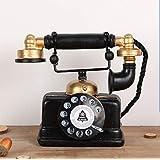 Large Creative Retro Decorative Phone Model Telephone Wall Decor, Vintage Rotary Telephone Decor Statue Artist Antique Phone