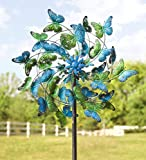 Wind & Weather KA6925 Metal Kinetic Butterfly Spinner