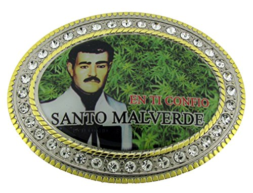 (Jesus Malverde Narco Saint Belt Buckle Collectible Costume Fashion Metal New)