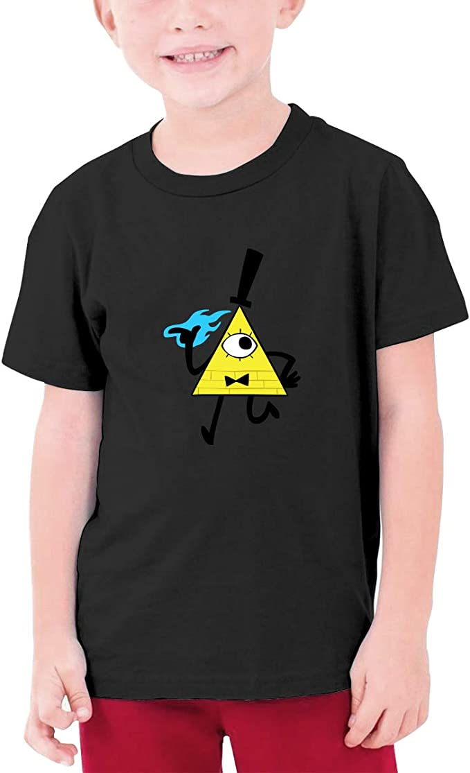 Bill Cipher-Gravity Falls Tee for Teenager Casual Cotton T Shirts Short Sleeve Boys Kids Girls