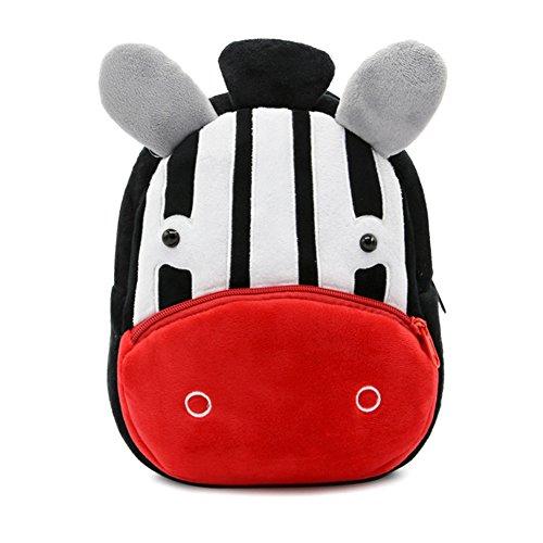 IMLECK Cute Zebra Kids Backpack Preschool Toddler Backpack for 2-6 Years Old Boys/Girls