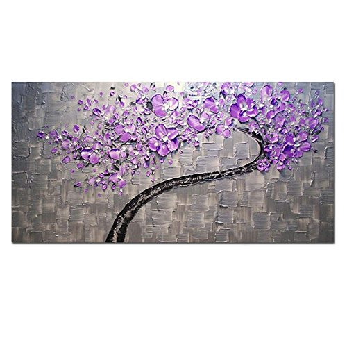 Compare Prices On Purple Kitchen Decor Online Shopping: AtfArt Living Room Hall Wall Art Handmade Landscape Oil