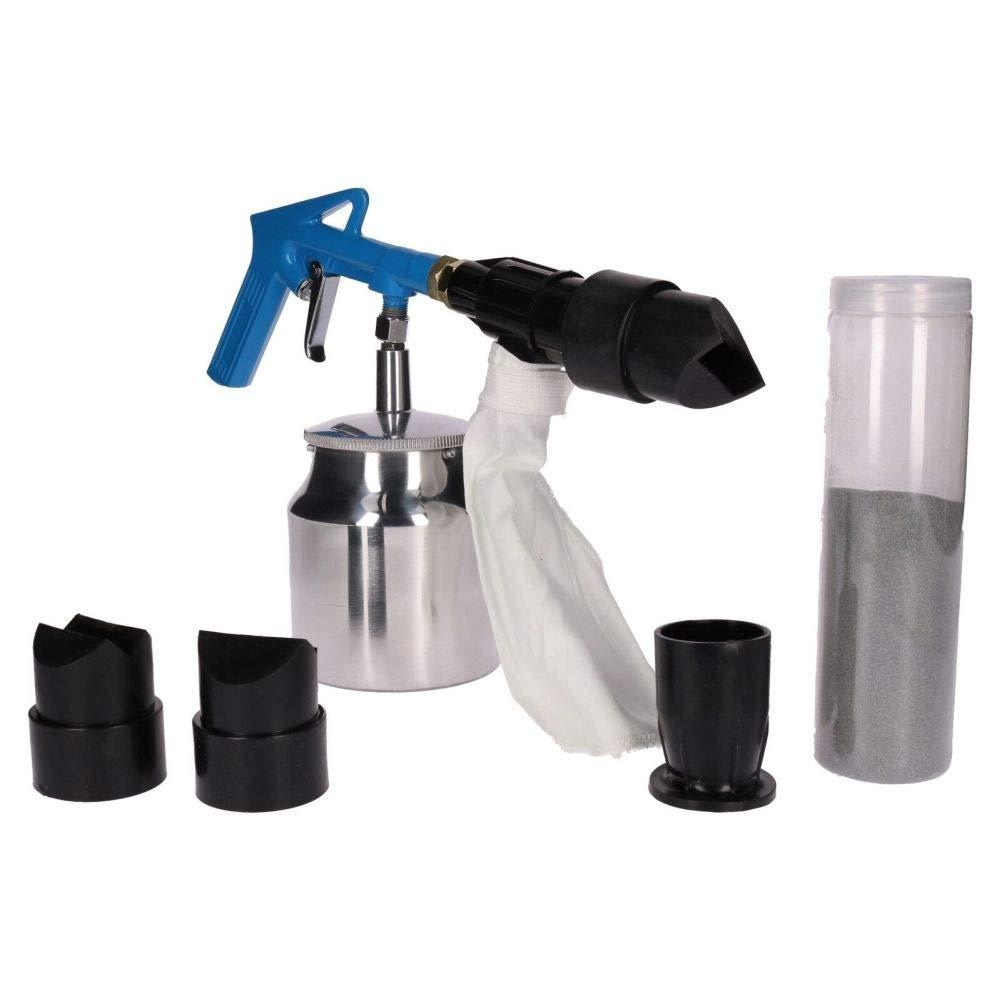 Air Sandblaster Kit Grit Shot Sand Blaster Rust Paint Remover Removal Tool 6pc