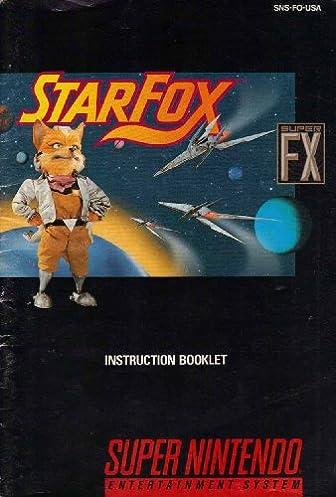 starfox snes instruction booklet super nintendo manual only super rh amazon com Star Fox Assault Star Fox 3